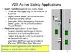 v2x active safety applications