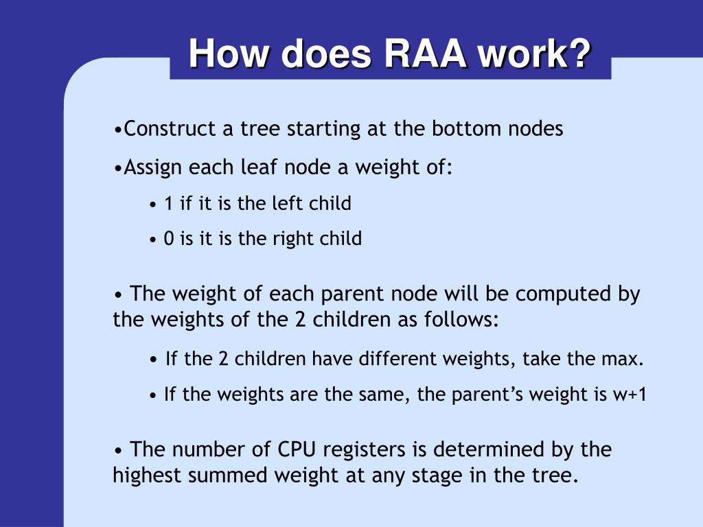 How does RAA work?