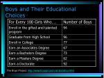 boys and their educational choices