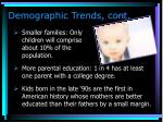 demographic trends cont