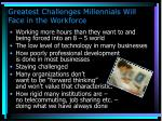 greatest challenges millennials will face in the workforce77