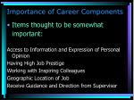 importance of career components55