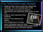 the information age mindset