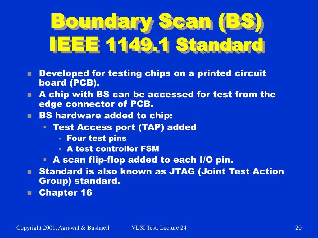 boundary scan test in vlsi pdf