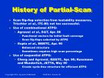 history of partial scan