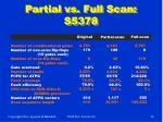 partial vs full scan s5378