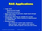ras applications