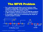 the mfvs problem
