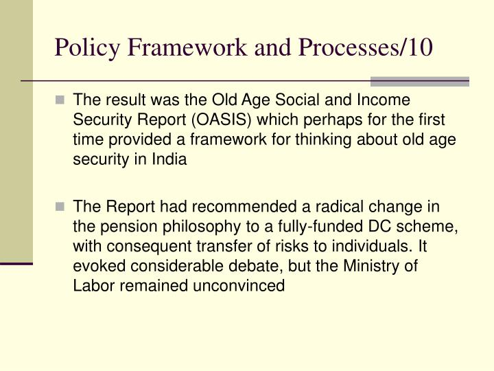 Policy Framework and Processes/10