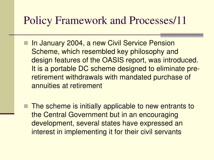 Policy Framework and Processes/11
