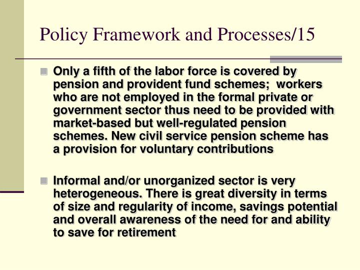 Policy Framework and Processes/15