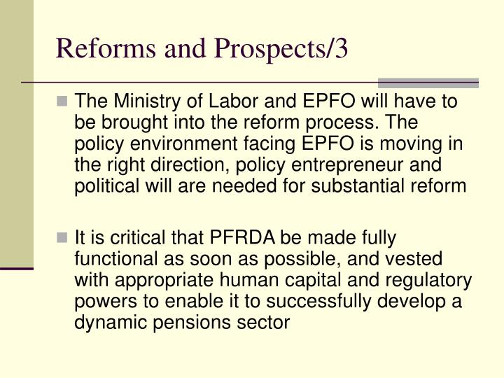 Reforms and Prospects/3