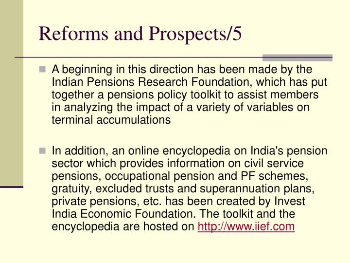Reforms and Prospects/5
