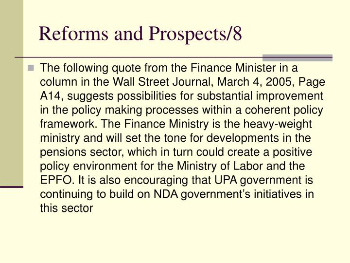 Reforms and Prospects/8