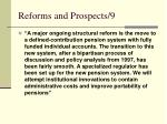 reforms and prospects 9