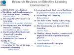 research reviews on effective learning environments
