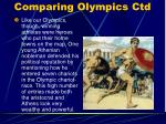 comparing olympics ctd