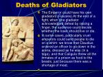 deaths of gladiators