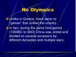 no olympics