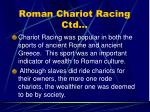 roman chariot racing ctd