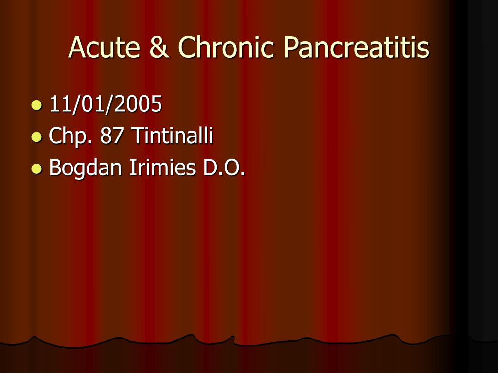 acute chronic pancreatitis l.