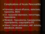 complications of acute pancreatitis