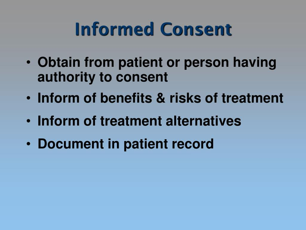 the risk and advantages of an informed consent document Everything you need to know about informed consent informed the consent document predict the risk to a human fetus informed consent.