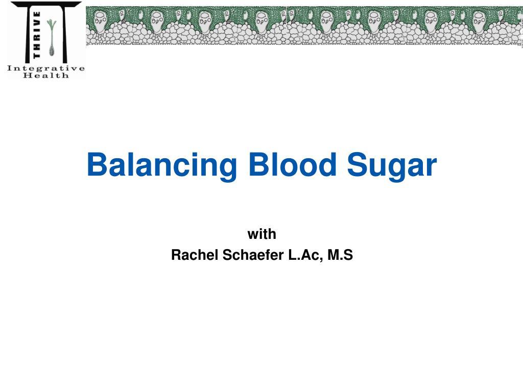 balancing blood sugar l.
