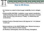 how to de stress