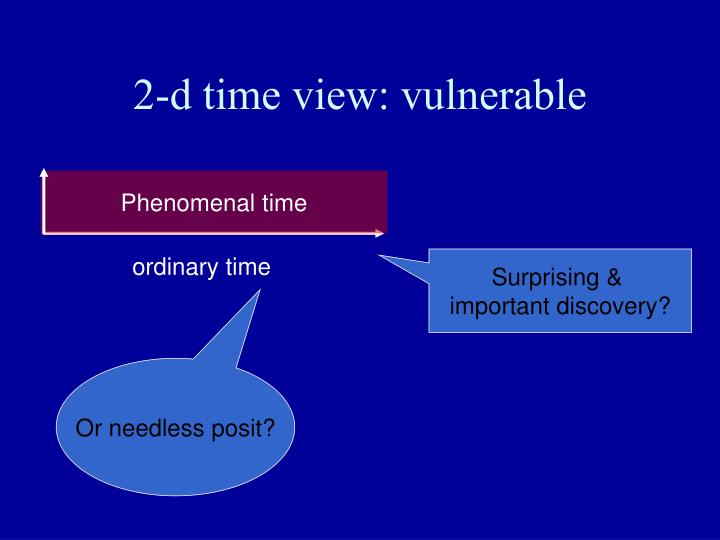 2-d time view: vulnerable
