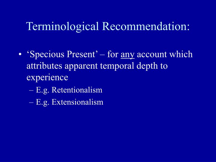 Terminological Recommendation: