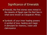 significance of emeralds