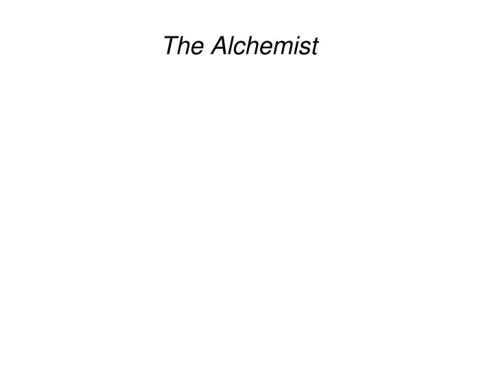 the alchemist n.