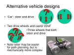 alternative vehicle designs