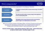 what is energy security
