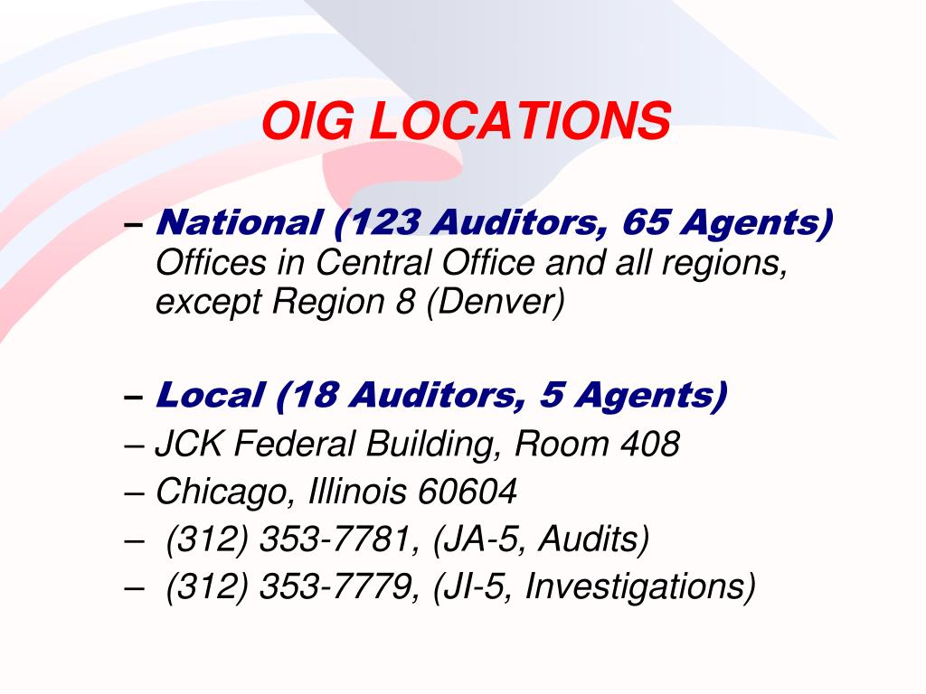 OIG LOCATIONS