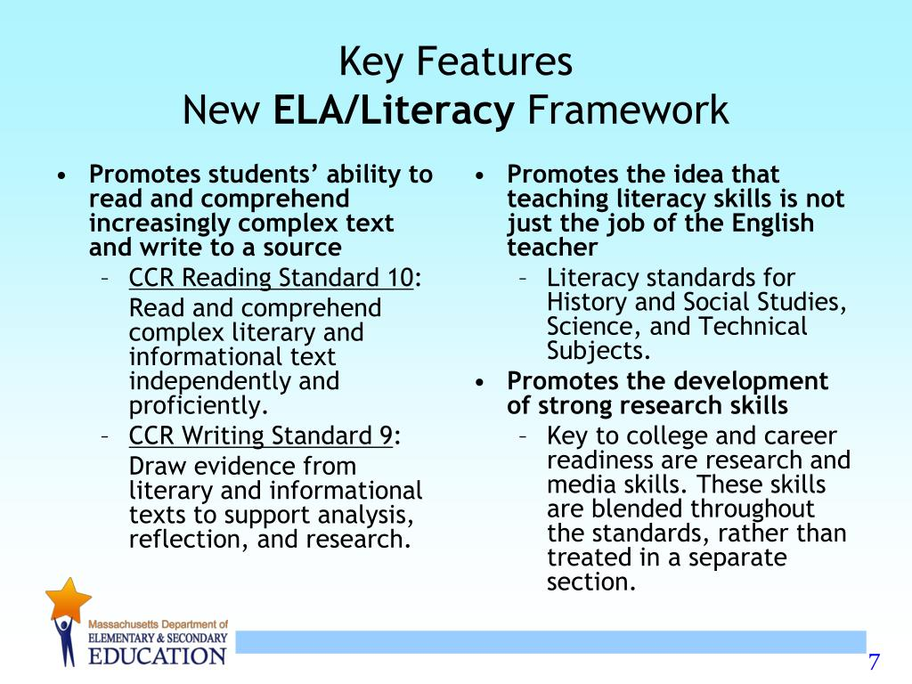Promotes students' ability to read and comprehend increasingly complex text and write to a source