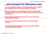 and answers for romania case