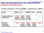 long run equilibrium on the labour market johansen cointegration test1