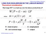 long run equilibrium on the labour market theoretical consideration