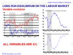 long run equilibrium on the labour market variable evolution