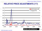 relative price adjustments 7 7
