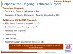 helpdesk and ongoing technical support