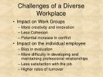 challenges of a diverse workplace