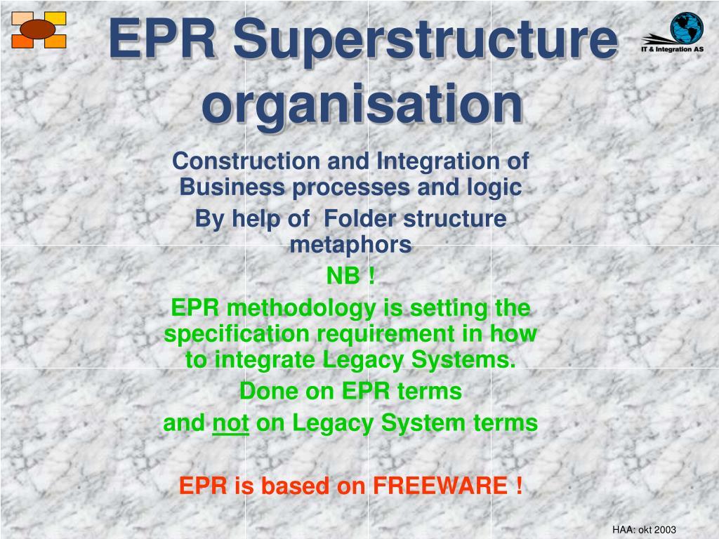 EPR Superstructure organisation