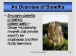 an overview of benefits