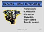 benefits basic terminology