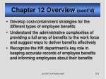 chapter 12 overview cont d