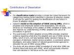contributions of dissertation