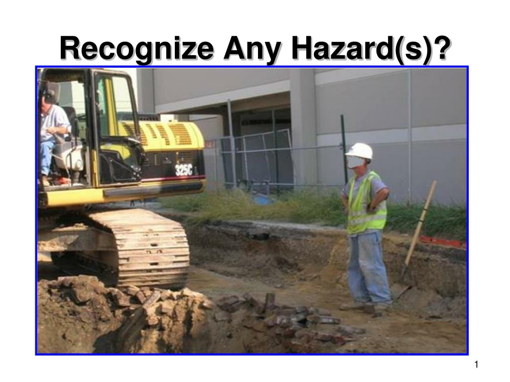 recognize any hazard s l.